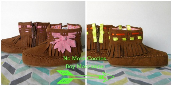 No More Cooties Boy Moccasins