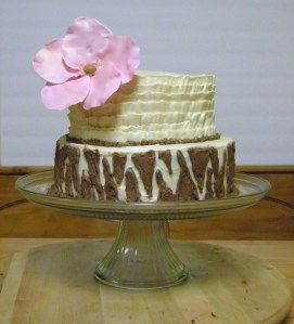 Pink and Zebra Cake {FriendsStitchedTogether.Wordpress.com}