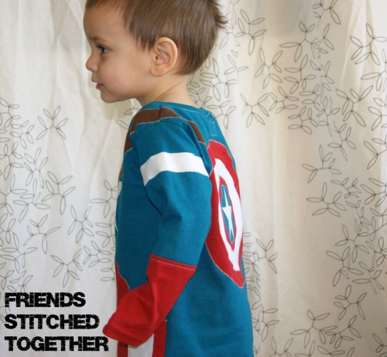 Captain America Tee {{FriendsStitchedTogether.Wordpress.com}}