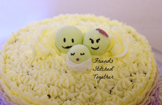 Sweet Pea Baby Shower Cake {{FriendsStitchedTogether.Wordpress.com}}