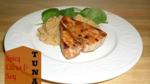 Tasty Tuesday-Spicy Citrus and Soy Tuna {{friendsstitchedtogether.wordpress.com}}